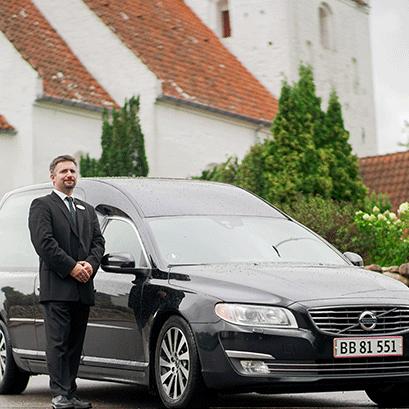 nærmeste familie begravelse